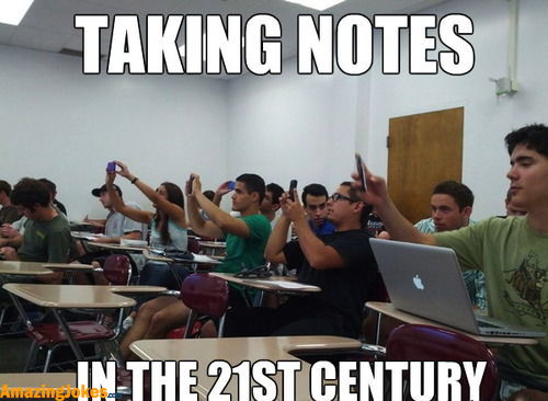 taking notes
