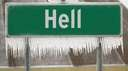 if finally happened #hell #freezes