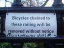 A sign notifying people without notice #bike