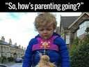 So, hows parenting going #puke #sick #kid