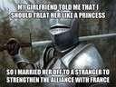 Treat your girl like a princess #knight #alliance #france