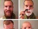 A close shave turns a man into #baby