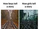How a boy tells a story vs how girls do