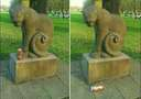 cats will be cats even when theyre a statue