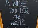 A wise doctor one wrote