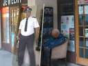 Guard got caught sleeping on the job