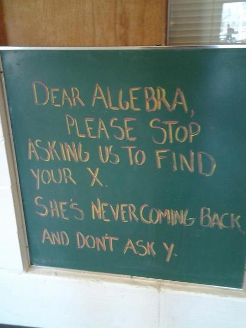 dear algebra x ex missing